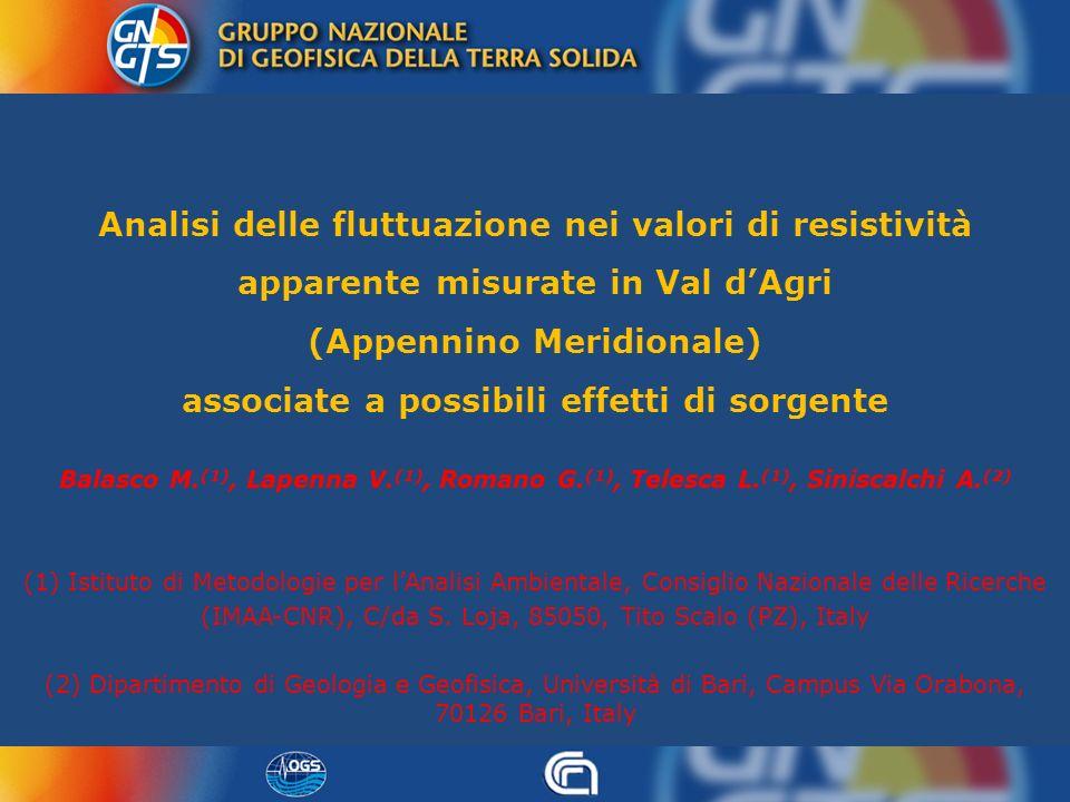 (IMAA-CNR), C/da S. Loja, 85050, Tito Scalo (PZ), Italy