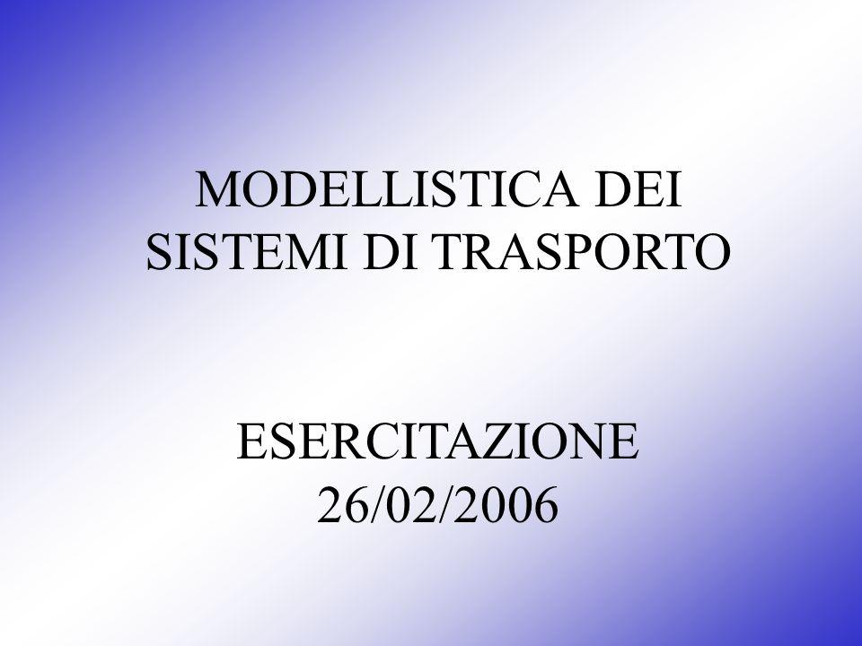 MODELLISTICA DEI SISTEMI DI TRASPORTO