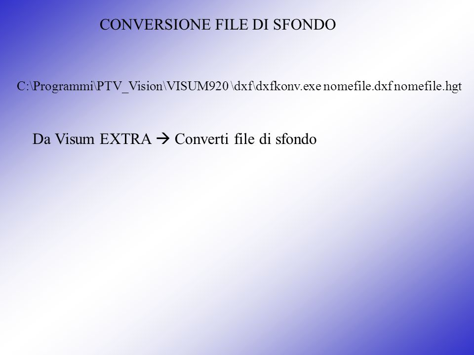 CONVERSIONE FILE DI SFONDO