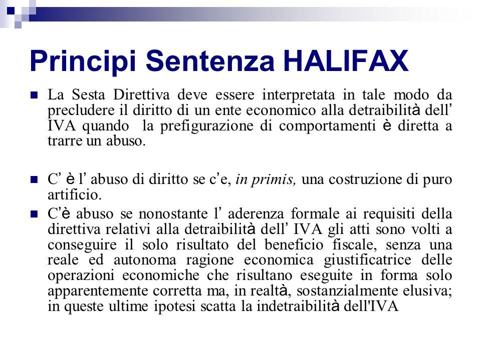 Principi Sentenza HALIFAX