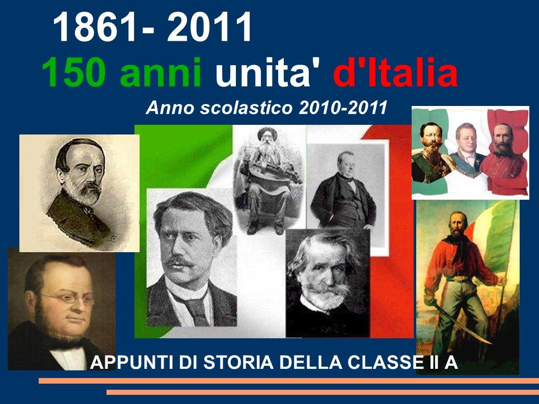 APPUNTI DI STORIA DELLA CLASSE II A