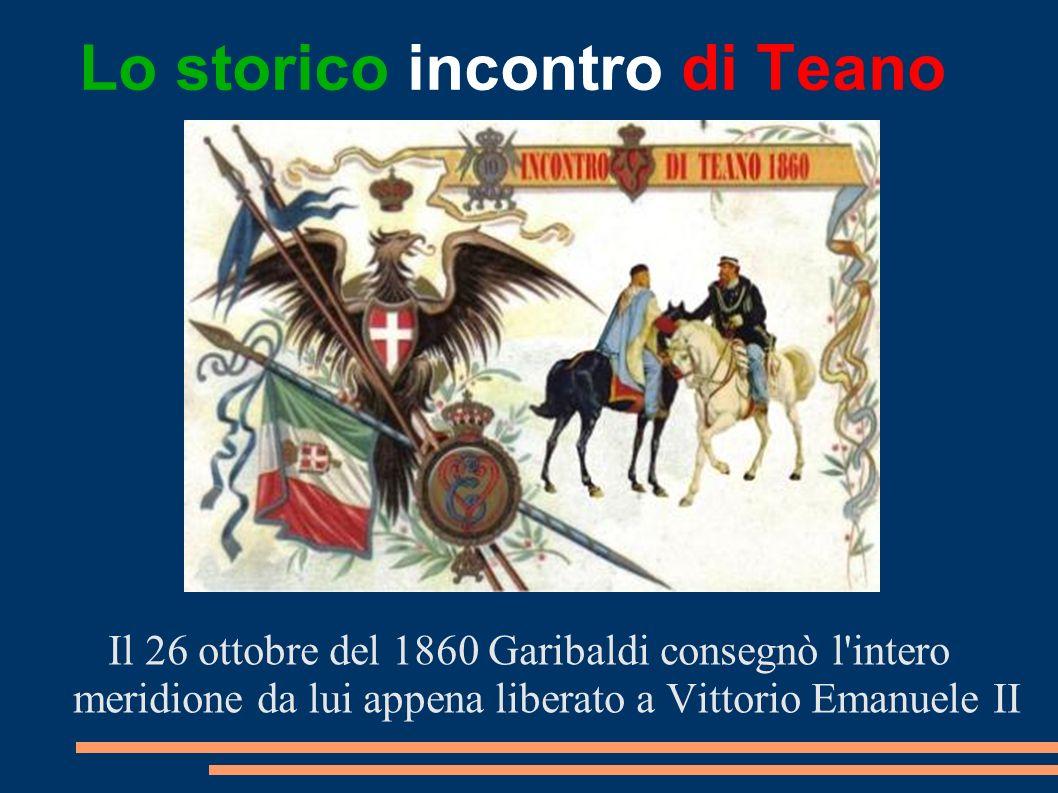 Lo storico incontro di Teano