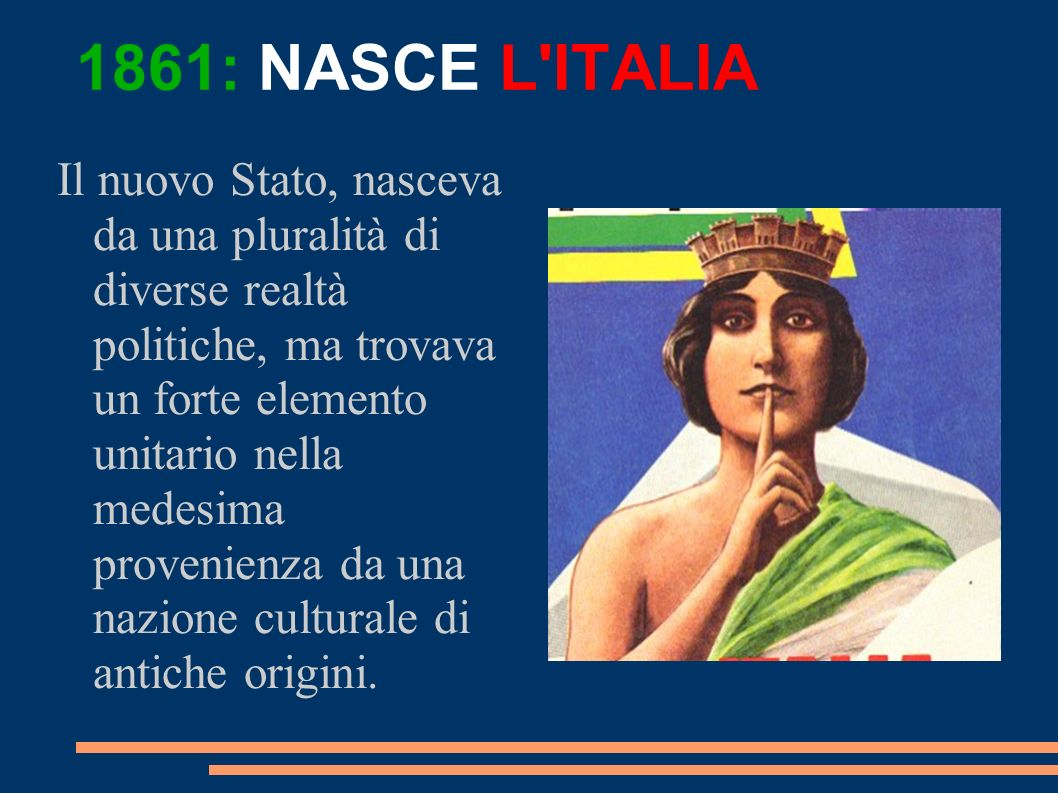 1861: NASCE L ITALIA