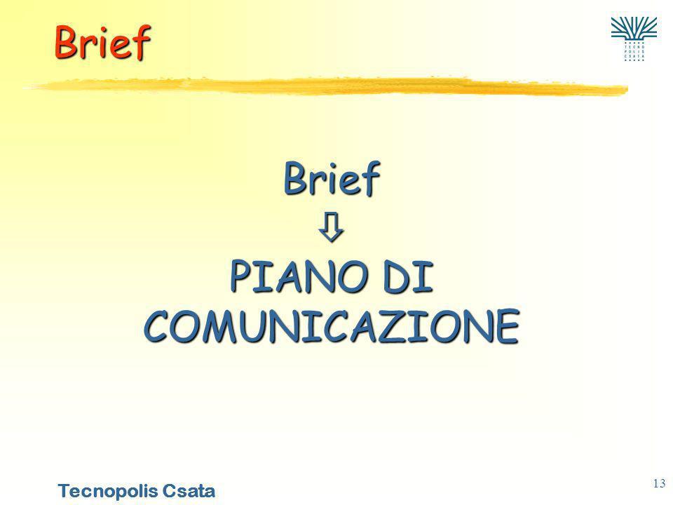 Brief  PIANO DI COMUNICAZIONE