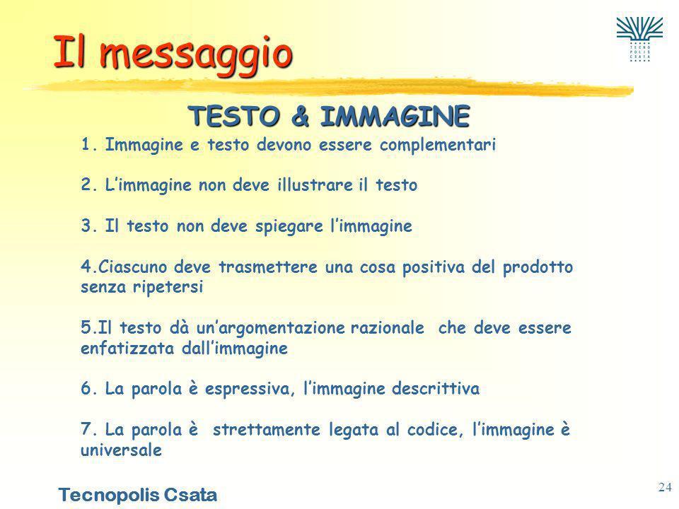 Il messaggio TESTO & IMMAGINE
