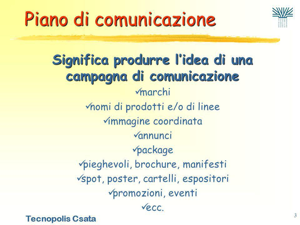 Significa produrre l'idea di una campagna di comunicazione
