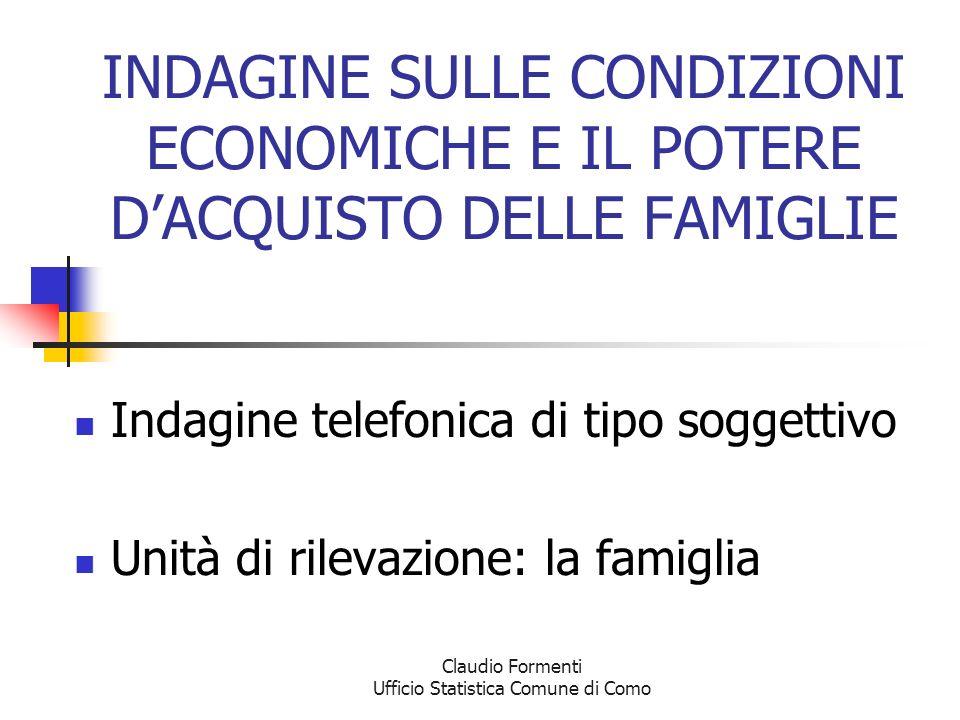 Claudio Formenti Ufficio Statistica Comune di Como