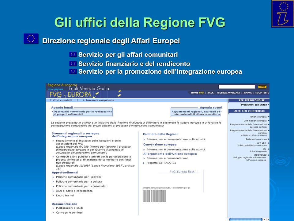 Gli uffici della Regione FVG