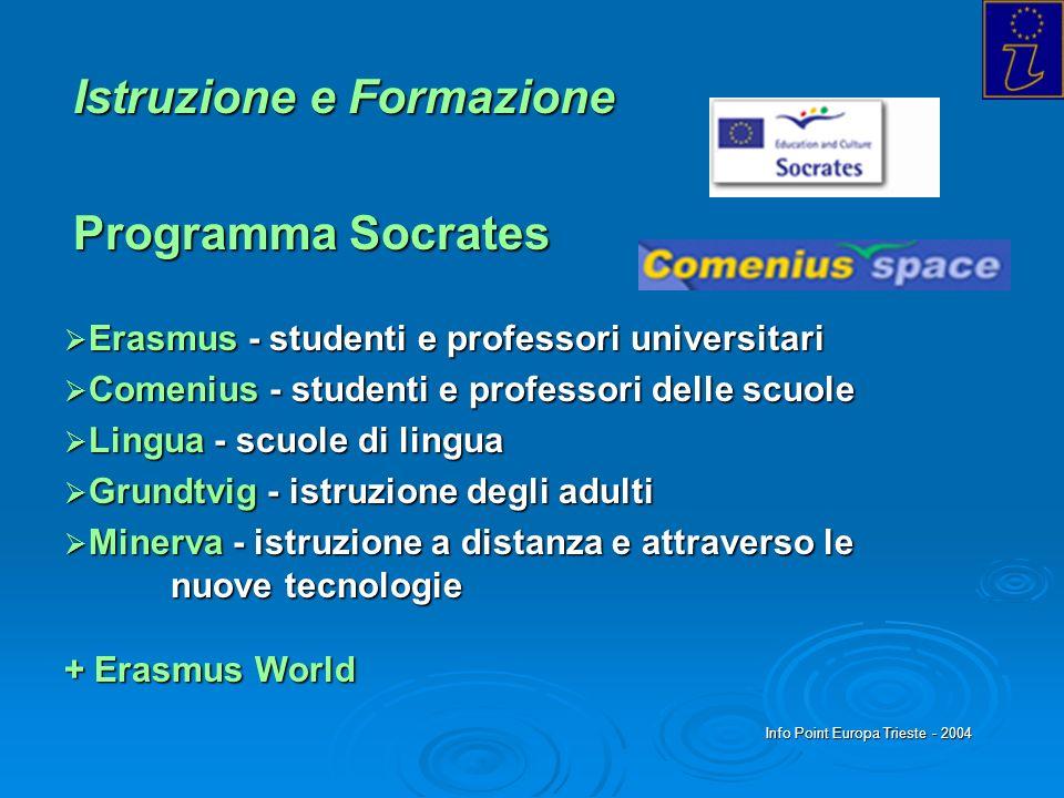 Istruzione e Formazione Programma Socrates