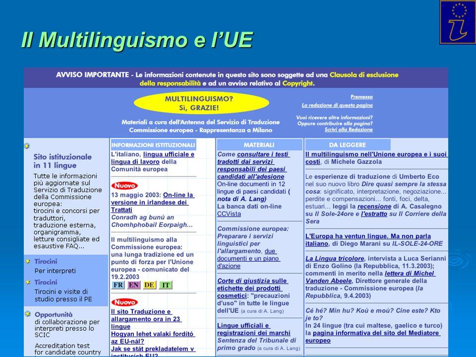 Il Multilinguismo e l'UE