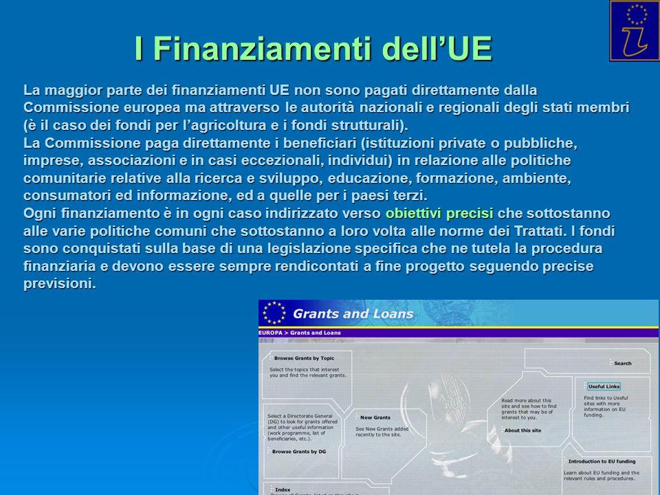 I Finanziamenti dell'UE
