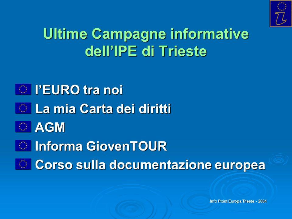 Ultime Campagne informative dell'IPE di Trieste
