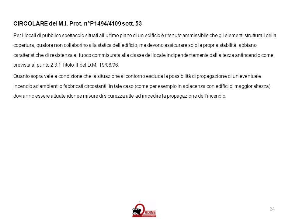 CIRCOLARE del M.I. Prot. n°P1494/4109 sott. 53