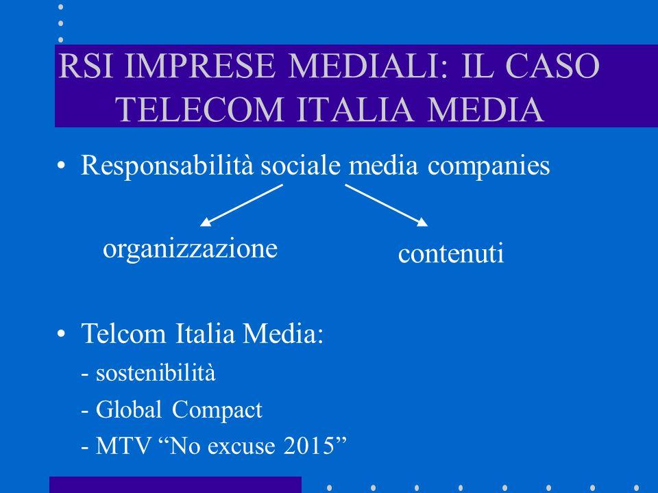 RSI IMPRESE MEDIALI: IL CASO TELECOM ITALIA MEDIA