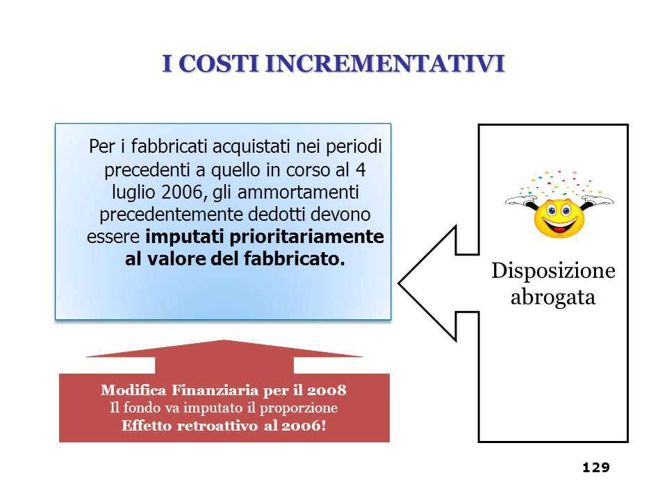 I COSTI INCREMENTATIVI