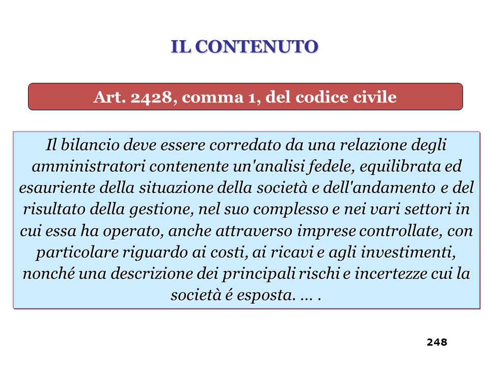 Art. 2428, comma 1, del codice civile