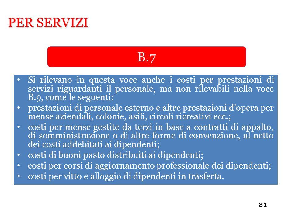 PER SERVIZI B.7.