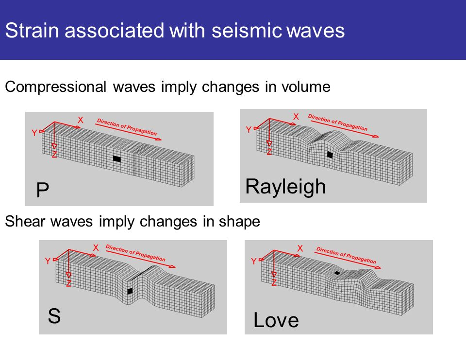 Strain associated with seismic waves
