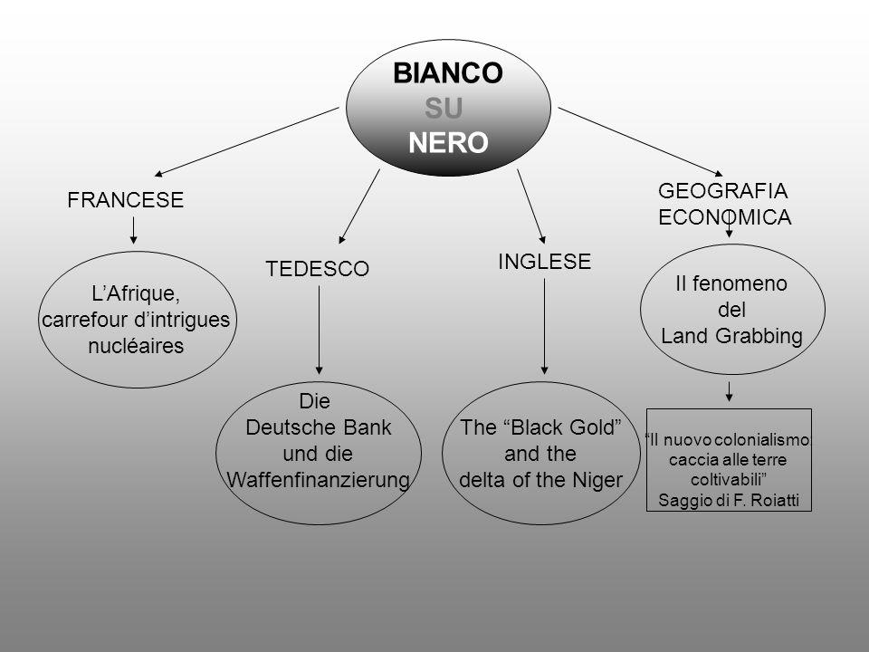 BIANCO SU NERO GEOGRAFIA ECONOMICA FRANCESE INGLESE Il fenomeno del