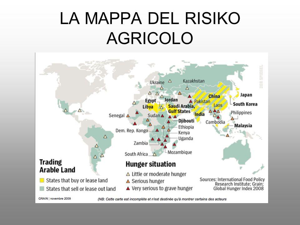 LA MAPPA DEL RISIKO AGRICOLO