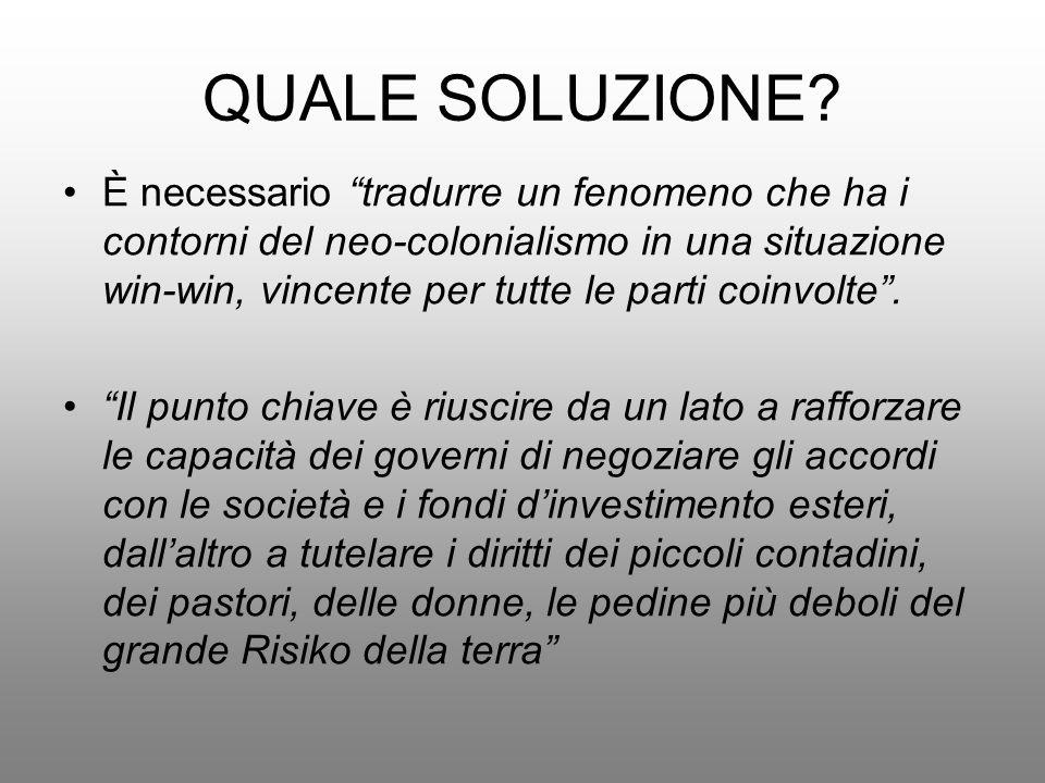 QUALE SOLUZIONE