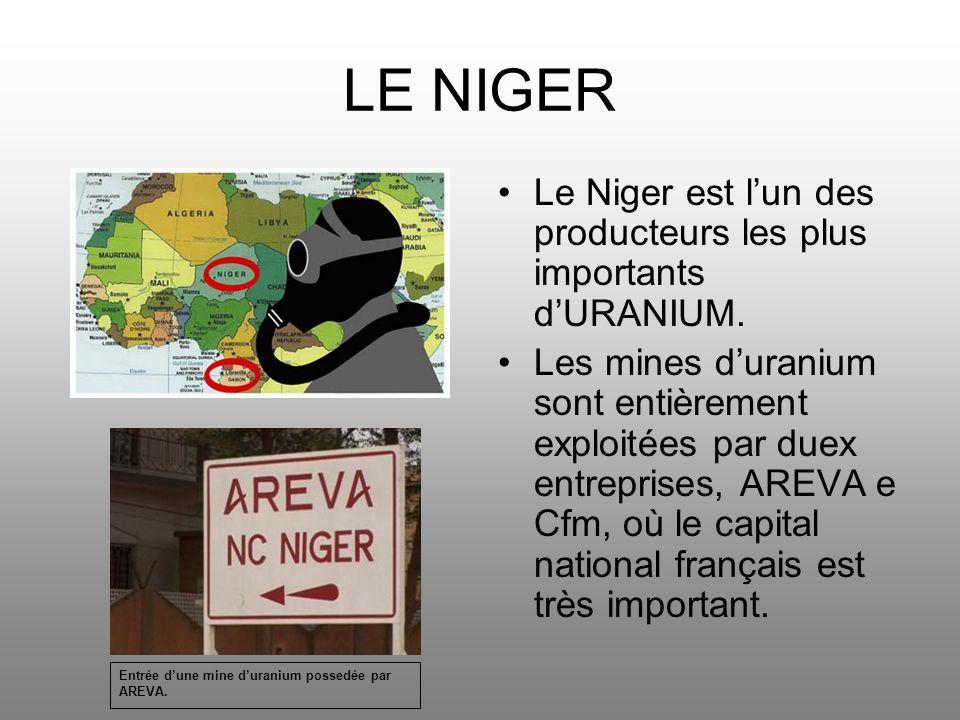 LE NIGER Le Niger est l'un des producteurs les plus importants d'URANIUM.