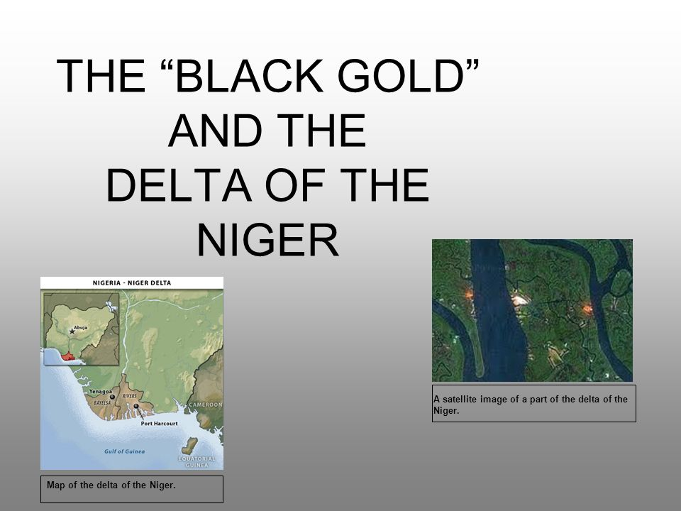 THE BLACK GOLD AND THE DELTA OF THE NIGER