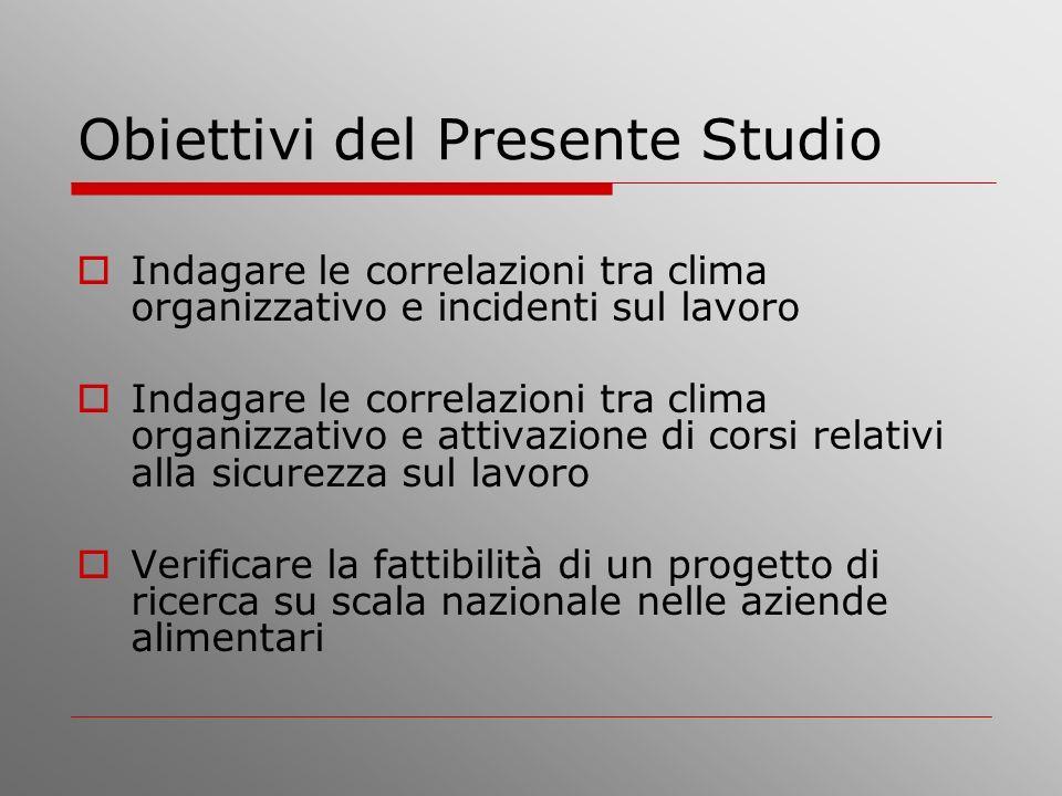 Obiettivi del Presente Studio