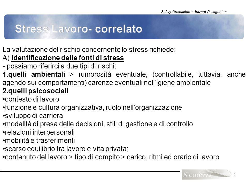 Stress Lavoro- correlato