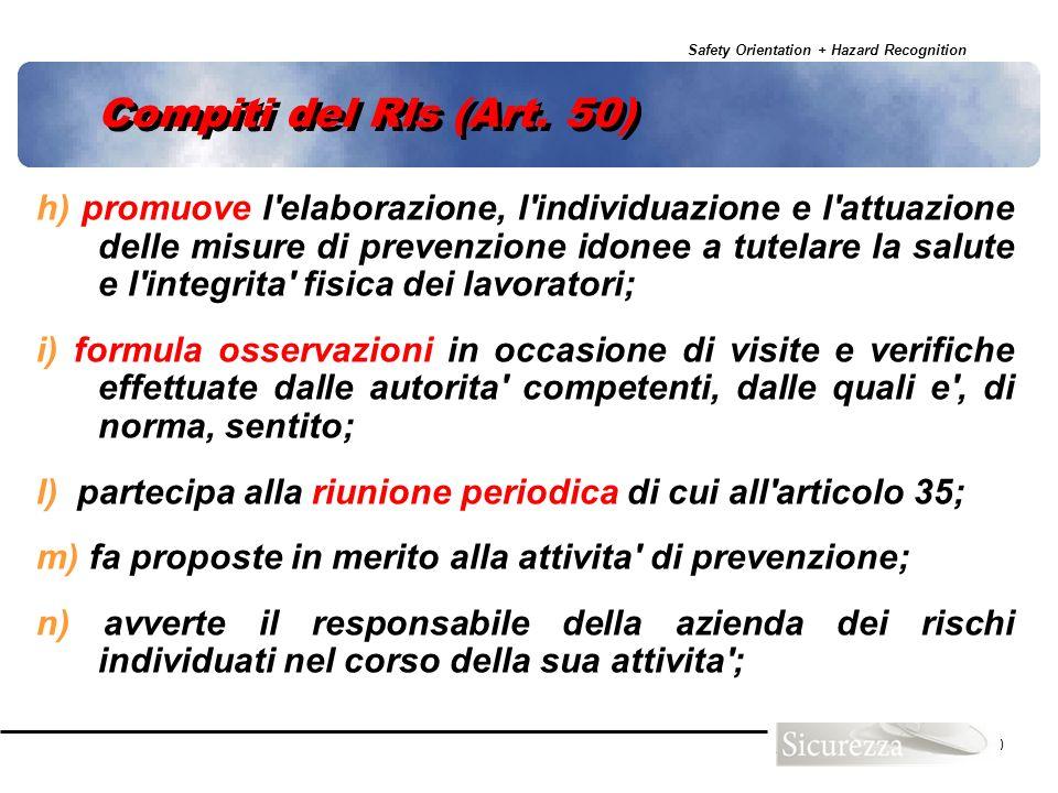 Compiti del Rls (Art. 50)