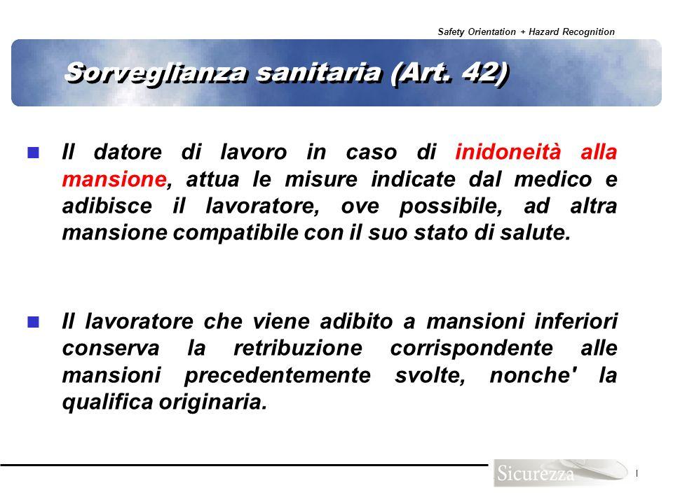 Sorveglianza sanitaria (Art. 42)