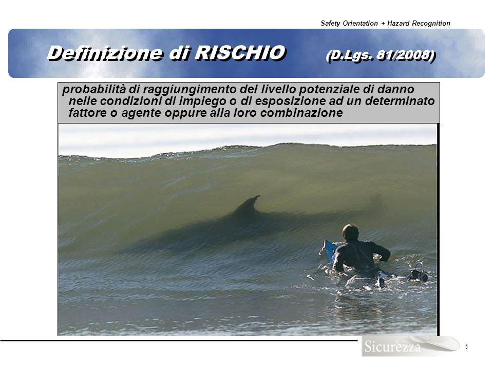 Definizione di RISCHIO (D.Lgs. 81/2008)
