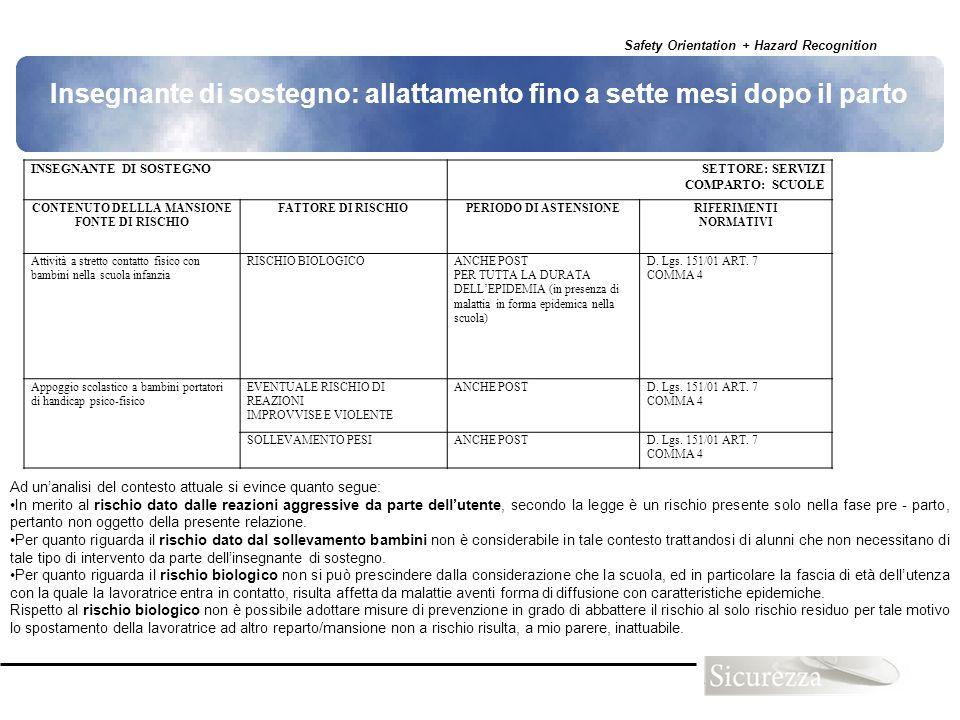 CONTENUTO DELLLA MANSIONE