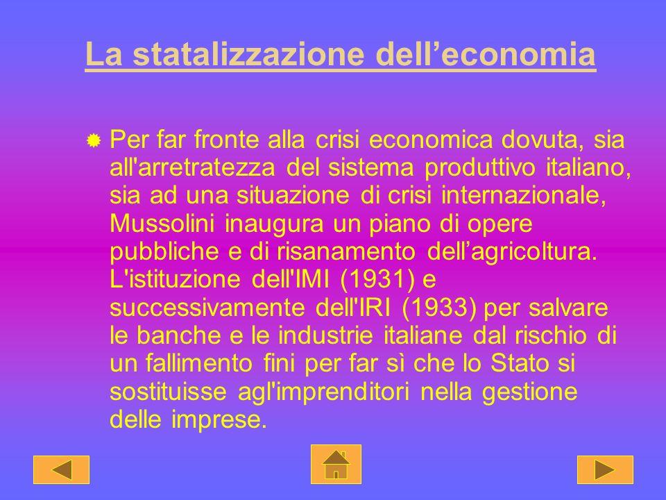 La statalizzazione dell'economia