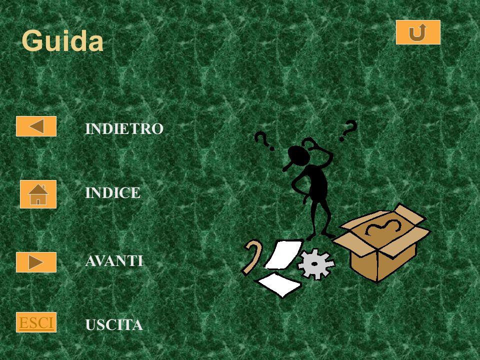 Guida INDIETRO INDICE AVANTI ESCI USCITA