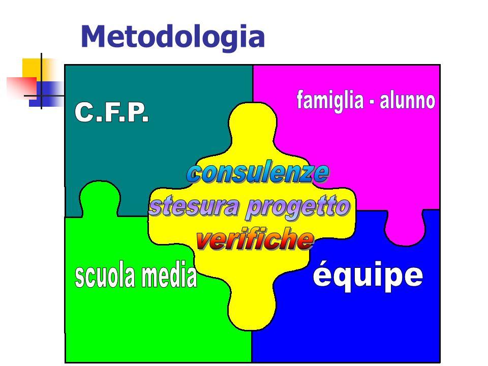 Metodologia famiglia - alunno C.F.P. consulenze stesura progetto