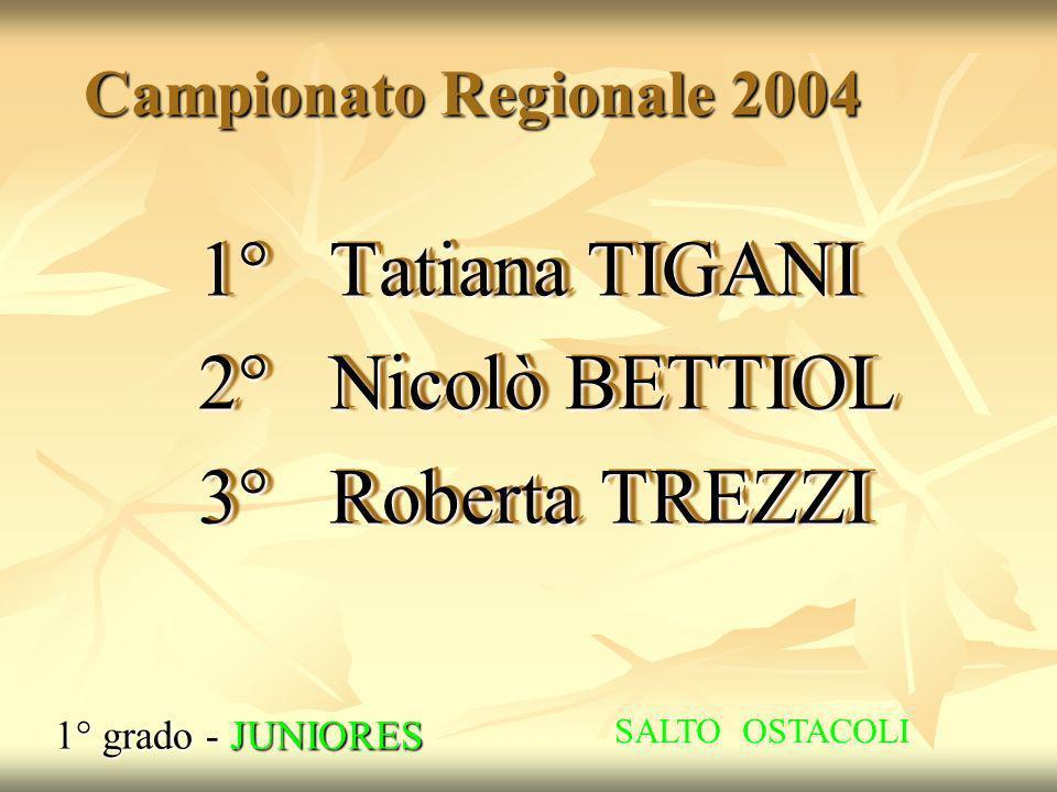 1° Tatiana TIGANI 2° Nicolò BETTIOL 3° Roberta TREZZI
