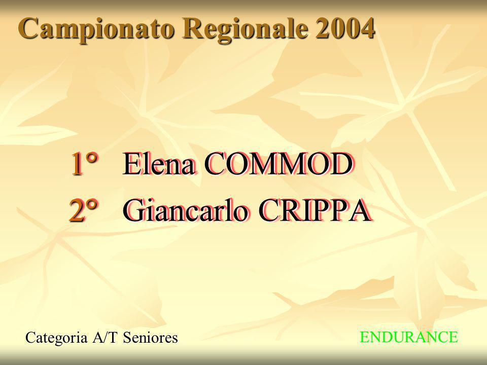 1° Elena COMMOD 2° Giancarlo CRIPPA Campionato Regionale 2004