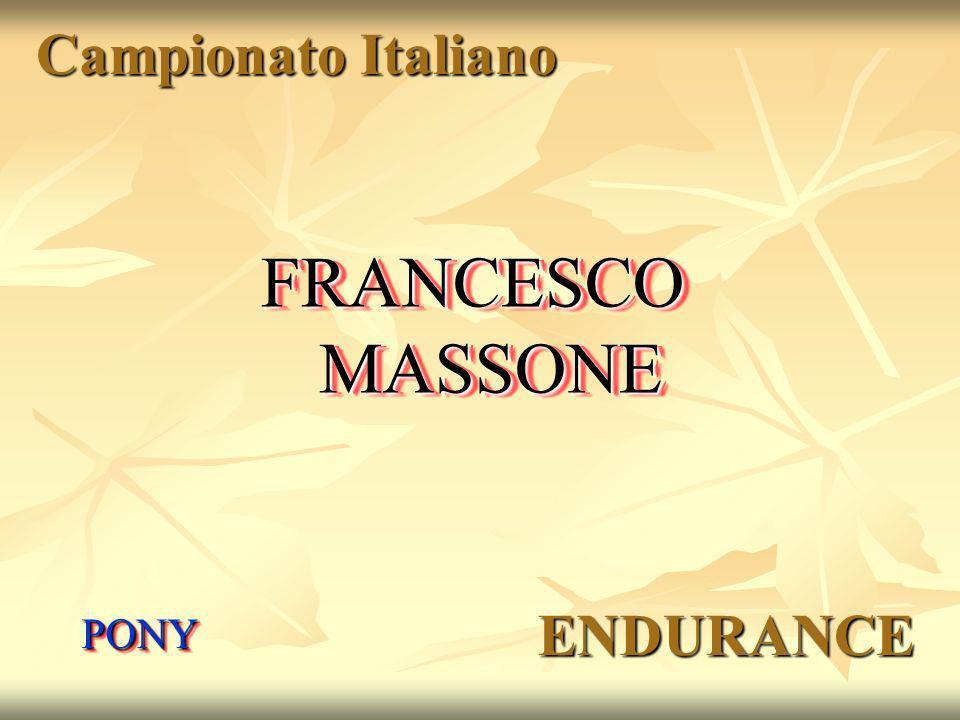 Campionato Italiano FRANCESCO MASSONE PONY ENDURANCE