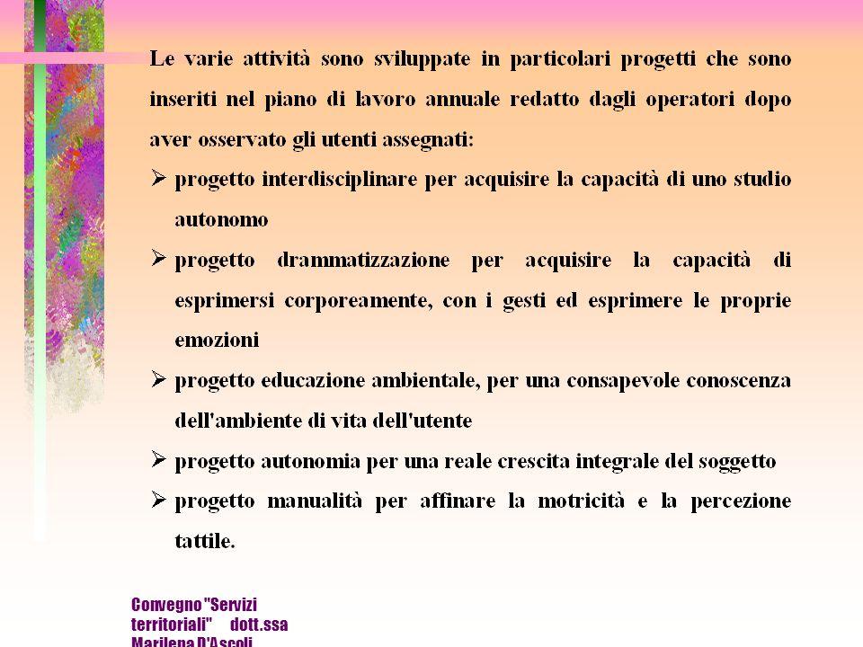 Convegno Servizi territoriali dott.ssa Marilena D Ascoli
