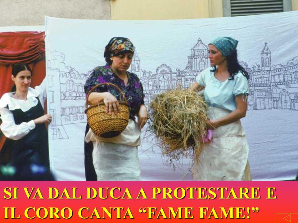 SI VA DAL DUCA A PROTESTARE E IL CORO CANTA FAME FAME!