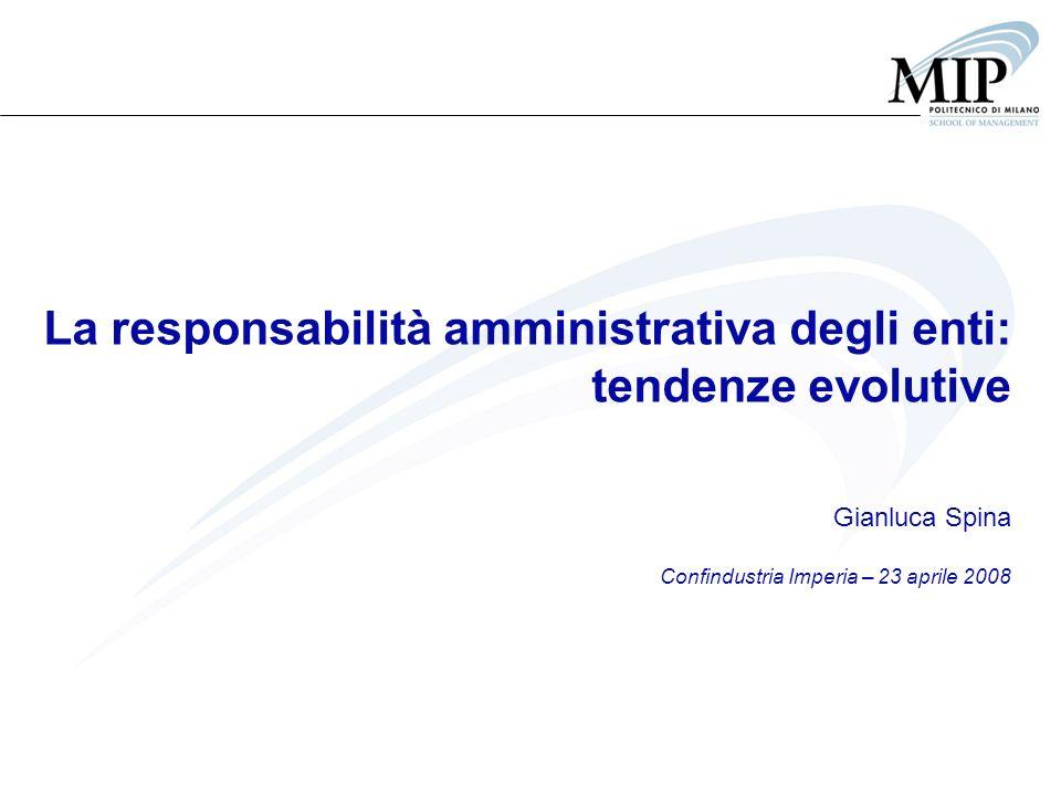 La responsabilità amministrativa degli enti: tendenze evolutive