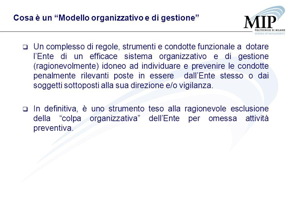 Cosa è un Modello organizzativo e di gestione