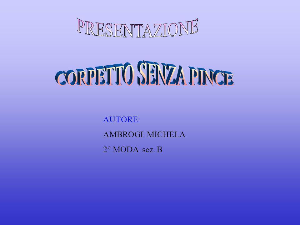 PRESENTAZIONE CORPETTO SENZA PINCE AUTORE: AMBROGI MICHELA