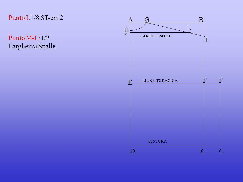 Punto M-L:1/2 Larghezza Spalle I
