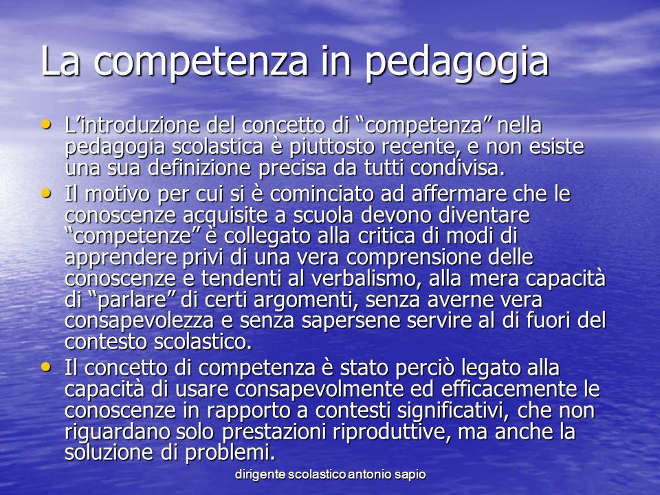 La competenza in pedagogia