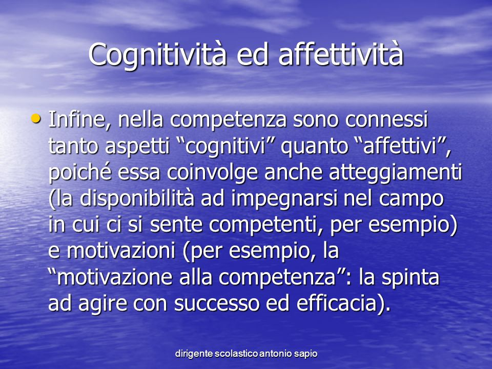 Cognitività ed affettività