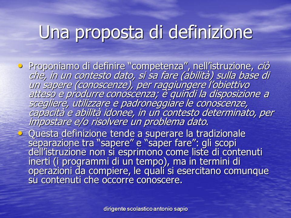 Una proposta di definizione