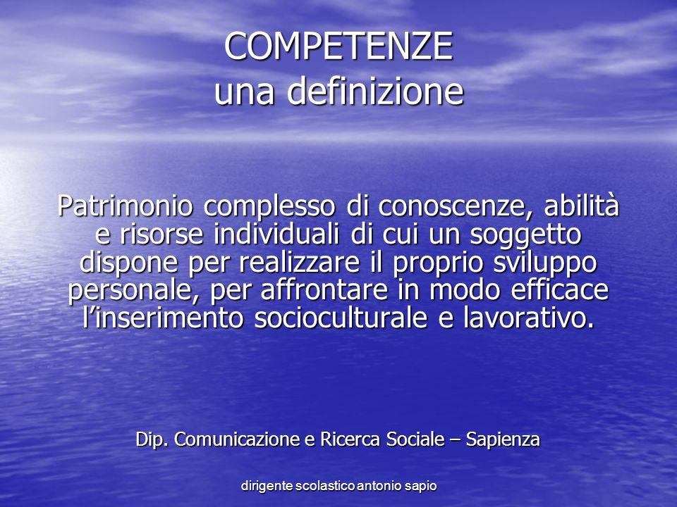 COMPETENZE una definizione