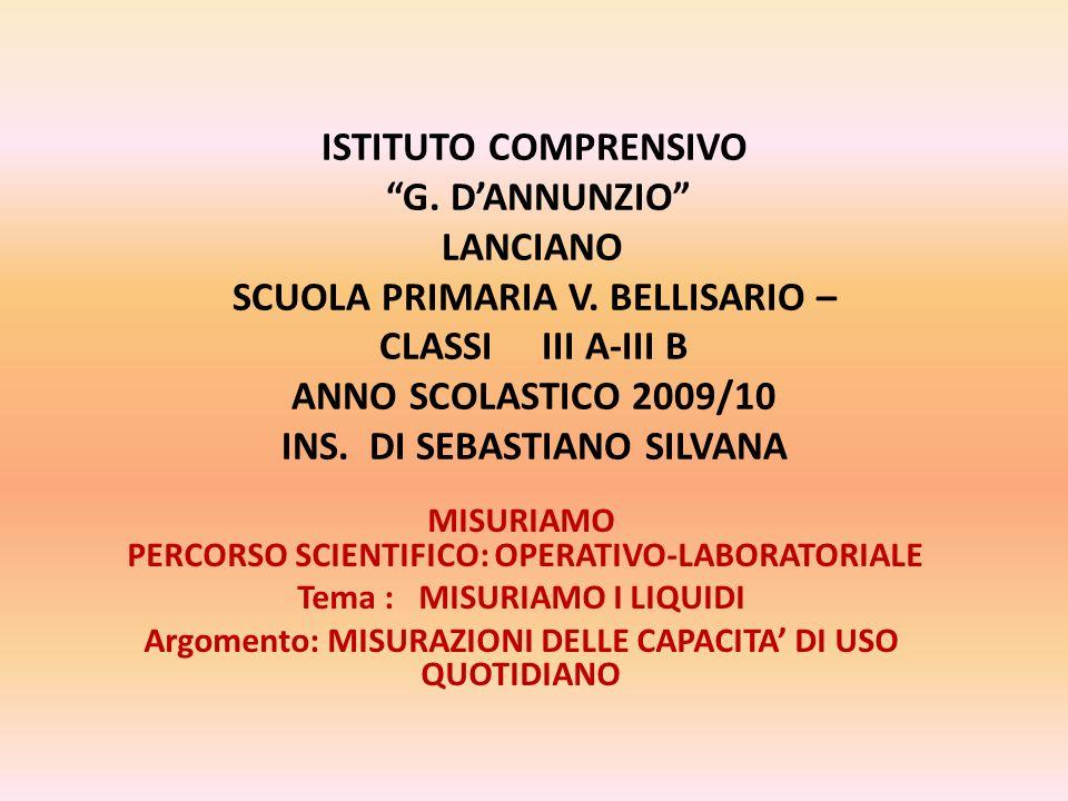 ISTITUTO COMPRENSIVO G. D'ANNUNZIO LANCIANO SCUOLA PRIMARIA V